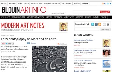 http://blogs.artinfo.com/modernartnotes/2012/08/early-photography-on-mars-and-on-earth/
