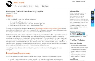 http://www.amirharel.com/2010/02/21/debugging-firefox-extension-using-log-file/