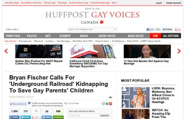 A prominent anti-gay pundit has sparked the ire of many in the blogosphere ...