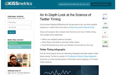 http://blog.kissmetrics.com/the-science-of-twitter-timing/