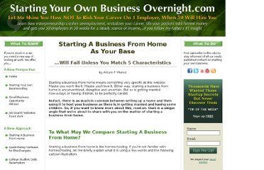 http://www.startingyourownbusinessovernight.com/starting-a-business-from-home-base.html