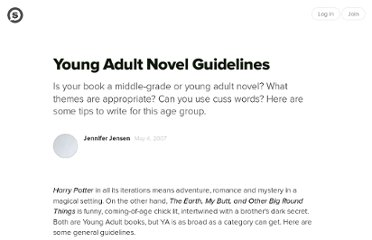 http://suite101.com/article/young-adult-novel-guidelines-a20436