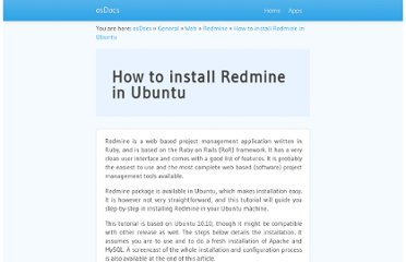 http://docs.oseems.com/general/web/redmine/install-in-ubuntu
