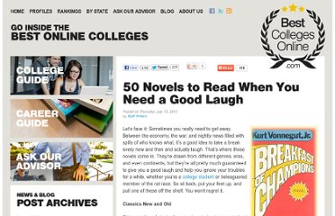 http://www.bestcollegesonline.com/blog/2010/07/15/50-novels-to-read-when-you-need-a-good-laugh/