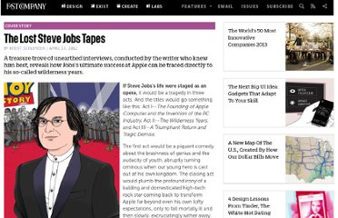 http://www.fastcompany.com/1826869/lost-steve-jobs-tapes