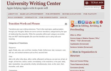 http://writingcenter.tamu.edu/2005/composing-process/editing-revising-proofreading/transition-words-and-phrases/