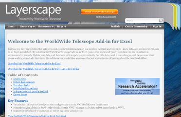 http://www.layerscape.org/Home/ExcelAddInWelcome#links