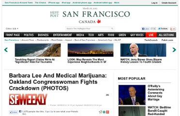 http://www.huffingtonpost.com/2012/08/08/barbara-lee-and-medical-marijuana_n_1758455.html