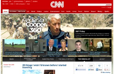 http://ac360.blogs.cnn.com/2009/10/13/28-things-i-wish-i-knew-before-i-started-traveling/