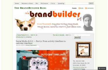 http://thebrandbuilder.wordpress.com/2009/07/22/social-media-r-o-i-part-9-from-activity-timelines-to-outcome-timelines/