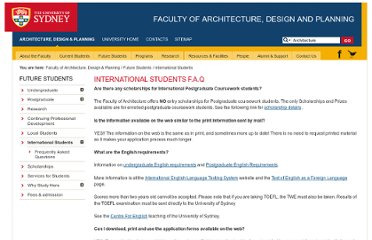 http://sydney.edu.au/architecture/programs_of_study/international_students_faq.shtml