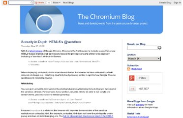 http://blog.chromium.org/2010/05/security-in-depth-html5s-sandbox.html