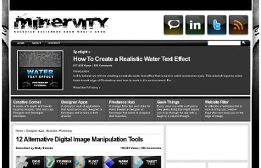http://www.minervity.com/features/photoshop/12-alternative-digital-image-manipulation-tools/