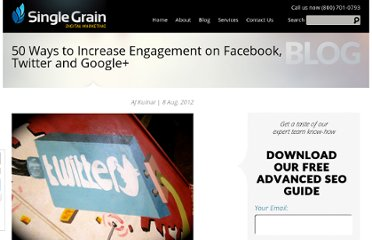 http://www.singlegrain.com/blog/50-ways-to-increase-engagement-on-facebook-twitter-and-google/