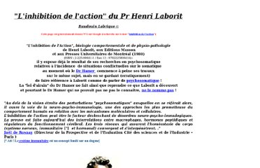 http://www.retrouversonnord.be/InhibitionActionLaborit.htm