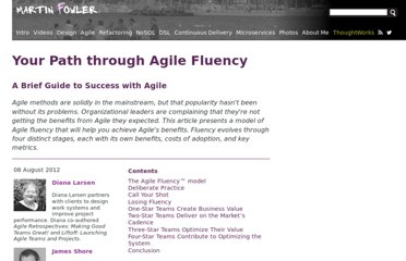 http://martinfowler.com/articles/agileFluency.html