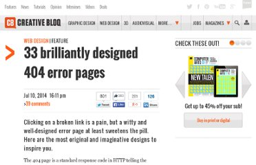 http://www.creativebloq.com/web-design/coolest-404-pages-812505