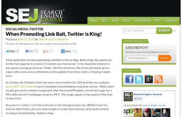 http://www.searchenginejournal.com/when-promoting-link-bait-twitter-is-king/19901/