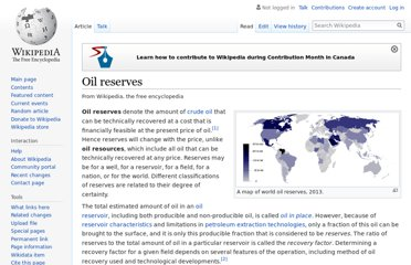 http://en.wikipedia.org/wiki/Oil_reserves