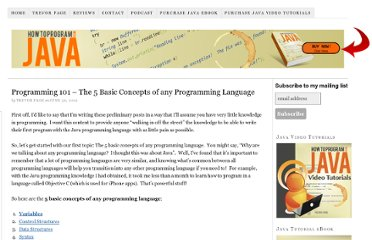 http://howtoprogramwithjava.com/programming-101-the-5-basic-concepts-of-any-programming-language/