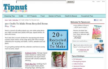 http://tipnut.com/recycled-crafts/