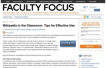 http://www.facultyfocus.com/articles/effective-teaching-strategies/wikipedia-in-the-classroom-tips-for-effective-use/