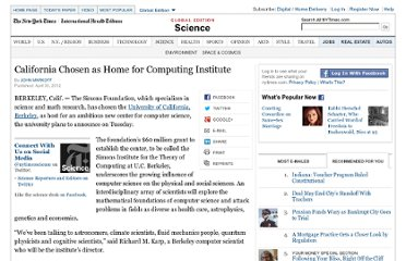 http://www.nytimes.com/2012/05/01/science/simons-foundation-chooses-uc-berkeley-for-computing-center.html