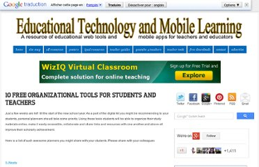 http://www.educatorstechnology.com/2012/08/10-free-organizational-tools-for.html