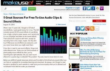 http://www.makeuseof.com/tag/5-great-sources-freetouse-audio-clips-sound-effects/