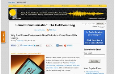 http://soundcommunication.holdcom.com/bid/82310/Why-Real-Estate-Professionals-Need-To-Include-Virtual-Tours-With-Listings