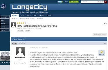 http://www.longecity.org/forum/topic/55455-how-i-got-piracetam-to-work-for-me/