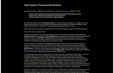 http://project.cyberpunk.ru/idb/notes_toward_a_postcyberpunk_manifesto.html