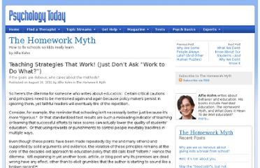 http://www.psychologytoday.com/blog/the-homework-myth/201108/teaching-strategies-work-just-don-t-ask-work-do-what