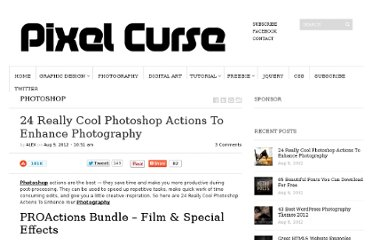 http://pixelcurse.com/photoshop-2/24-really-cool-photoshop-actions-to-enhance-photography#.UCU730QyCuU