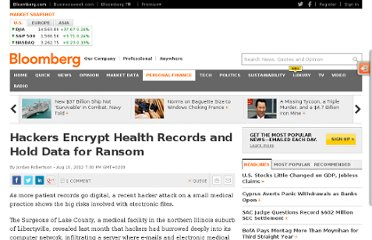 http://www.bloomberg.com/news/2012-08-10/hackers-encrypt-health-records-and-hold-data-for-ransom.html