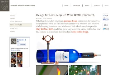 http://www.gerardotandco.com/blog/recycled-bottle-torch/