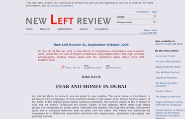 http://newleftreview.org/II/41/mike-davis-fear-and-money-in-dubai