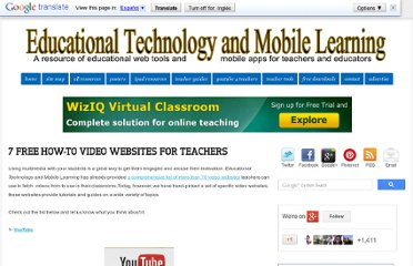 http://www.educatorstechnology.com/2012/08/7-free-how-to-video-websites-for.html
