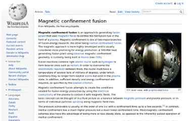 http://en.wikipedia.org/wiki/Magnetic_confinement_fusion