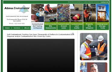 http://www.atmaenvironmental.com/contaminated-soil-testing-disposal.html