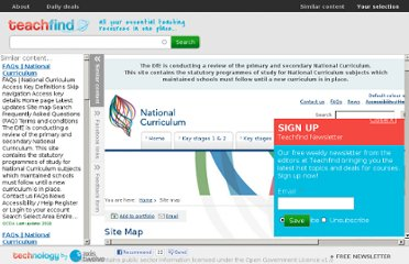 http://www.teachfind.com/content/site-map-national-curriculum