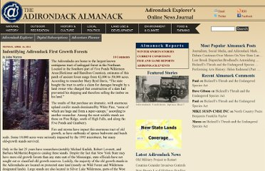 http://www.adirondackalmanack.com/2012/04/indentifying-adirondack-first-growth-forests.html