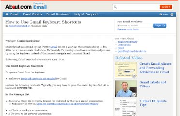 http://email.about.com/od/gmailtips/qt/Use_Gmail_Keyboard_Shortcuts.htm