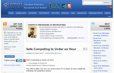 http://www.techsupportalert.com/content/safe-computing-under-hour.htm