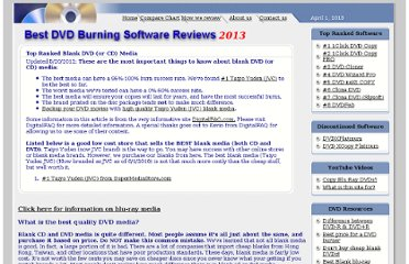http://www.best-dvd-burning-software-reviews.com/best-blank-dvd-media.asp