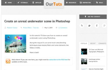 http://www.ourtuts.com/create-an-unreal-underwater-scene-in-photoshop/