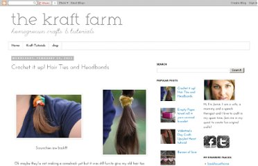 http://www.thekraftfarm.com/2012/02/crochet-it-up-hair-ties-and-headbands.html