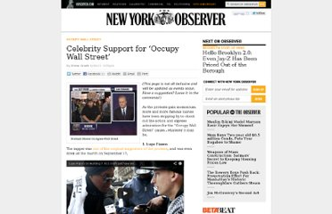 http://observer.com/2011/09/celebrity-support-for-occupy-wall-street/