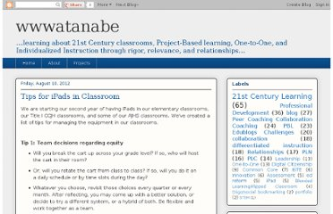 http://wwwatanabe.blogspot.com/2012/08/tips-for-ipads-in-classroom.html