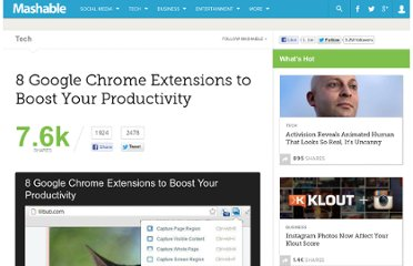 http://mashable.com/2012/08/12/chrome-extensions-productivity/